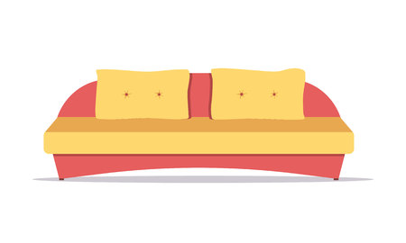 Sofa colored vector set. Collection of sofa illustration. Comfortable couch collection isolated on white background for interior design. Ilustração