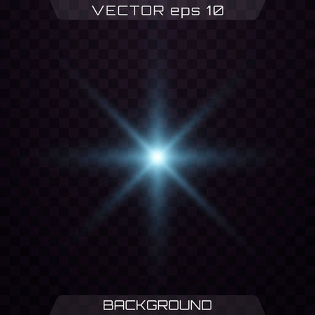 Blue lights on a transparent background. Set of light effects. Lights sparkles isolated, lens flare, explosion, glitter, line, sun flash, spark and stars.  Vector illustration.