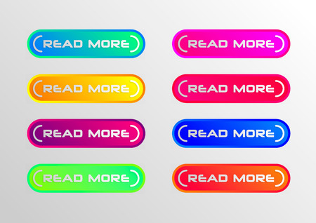 Read more button set. Read More creative concept for websites, retail stores, advertising. Ilustração