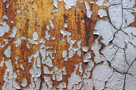 texture of a rusty metal surface with peeling paint Zdjęcie Seryjne