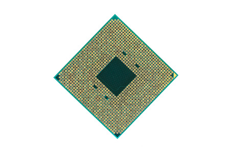 CPU, Central processing unit , isolated on white background. Banque d'images