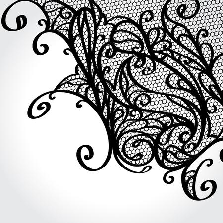 lace: Encaje de adorno Vectores