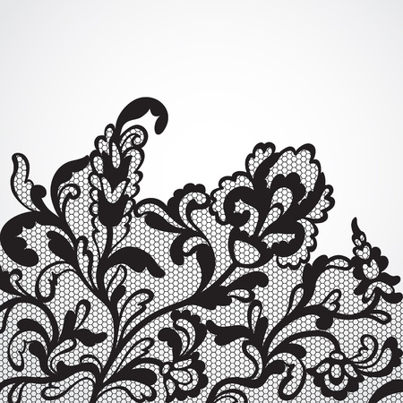 black lace: lace ornament