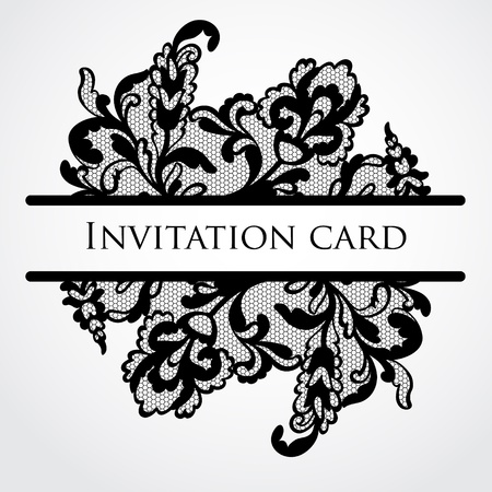 retro lace: Vector lace card Illustration