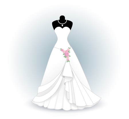 bridal shower: wedding dress