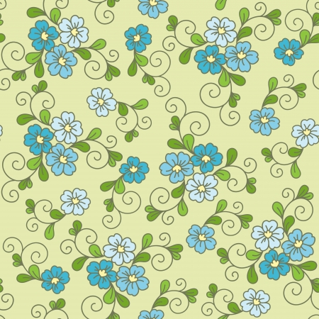Floral seamless pattern with forget-me-not Vector