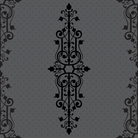 Vintage background ornament, black frame Vector