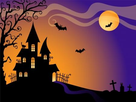 Halloween vector card Illustration