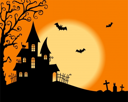 Halloween vector card Illustration