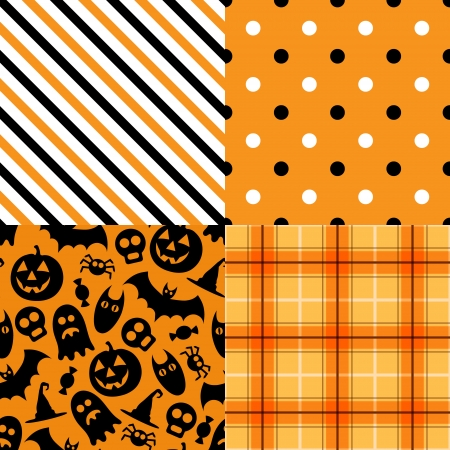 Halloween vector pattern pack Vector