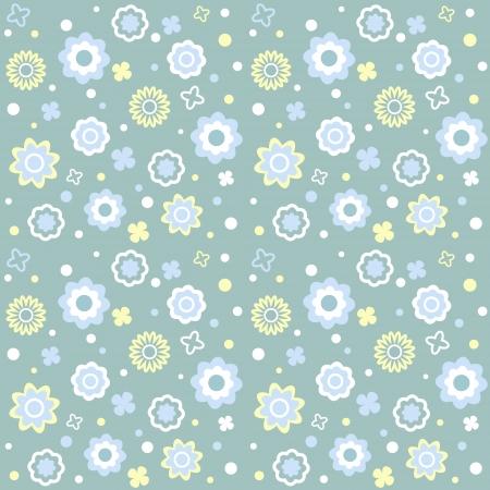 Vector seamless flower pattern Vector