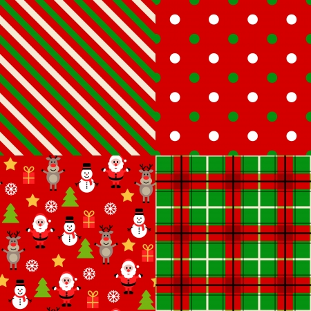 wrapping paper: Set of christmas patterns