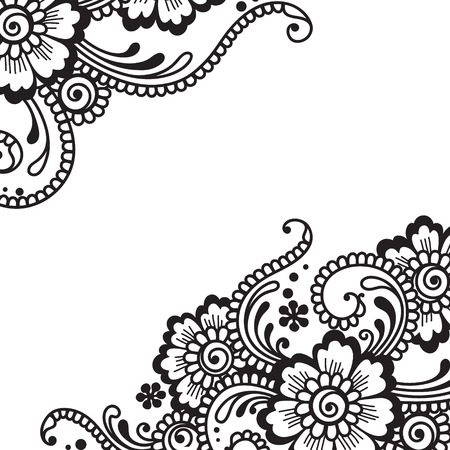 ornaments floral: Flower ornament