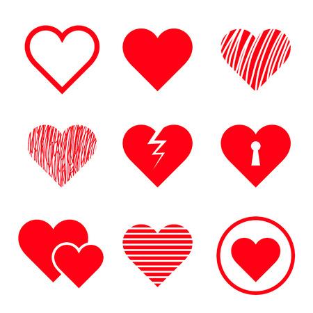 cuore: Vector cuori impostati Vettoriali