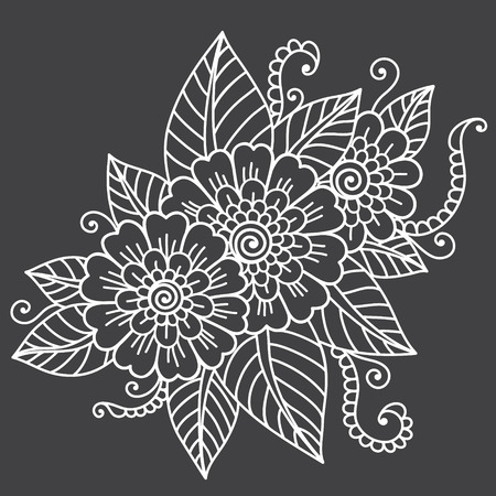 mehndi: Flower ornament