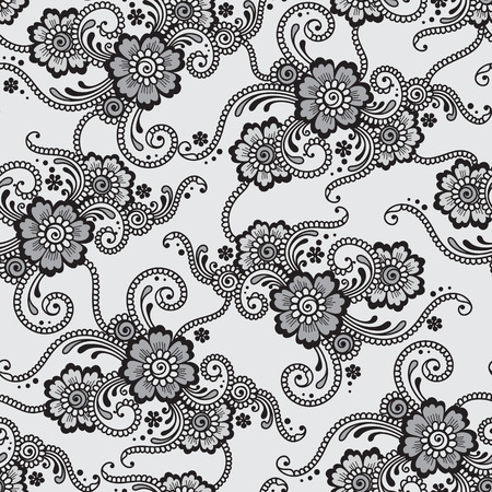 Flower seamless vector ornament Vector