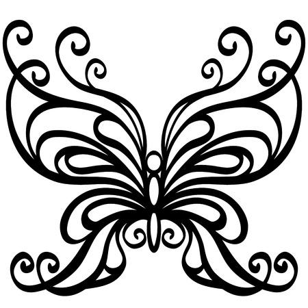 Mariposa de vectores Foto de archivo - 27440126
