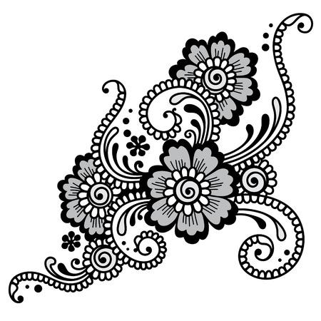 Element of Flower ornament. Vector