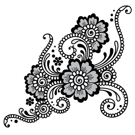 mehndi: Element of Flower ornament. Vector