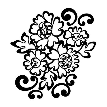 Vector ornament. Black lace ornament. Vector