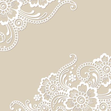 encaje: Flor del vector Ornamento de la esquina