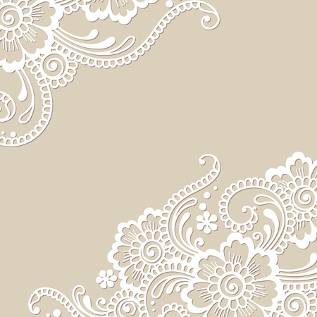 lace frame: Flower vector ornament corner