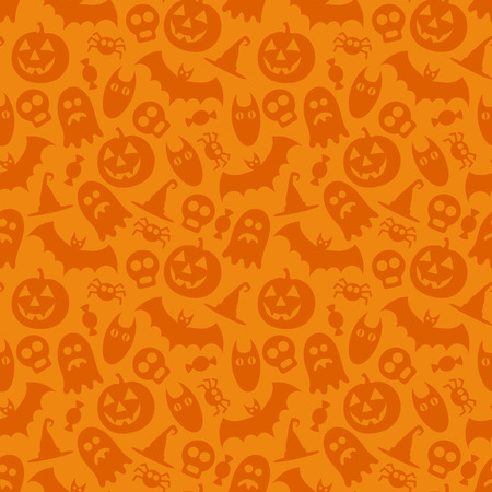 Halloween vector seamless pattern Çizim