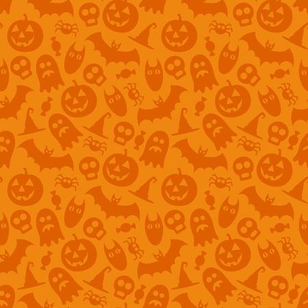 Halloween vector seamless pattern Illustration