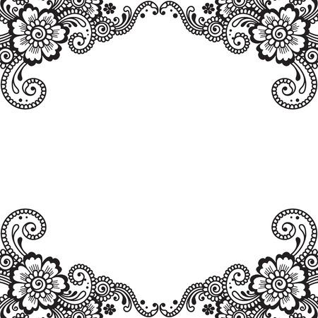 Flor vector Ornamento de la esquina Foto de archivo - 36294585
