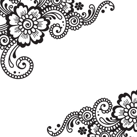 encaje: Flor vector Ornamento de la esquina Vectores