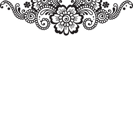 floral paisley: Flower vector ornament corner