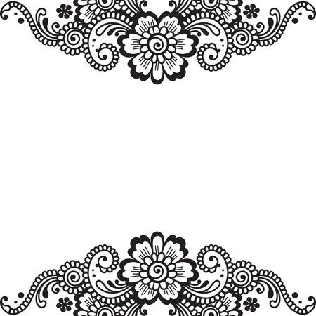 Flower vector ornament corner