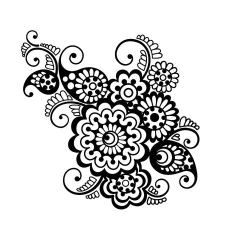 henna design: Vector floral pattern element, indian ornament