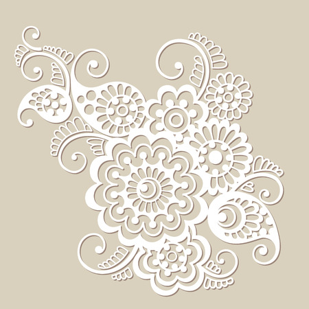 Vector floral pattern element, indian ornament