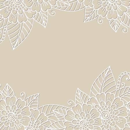 ornament frame: Flower ornament frame