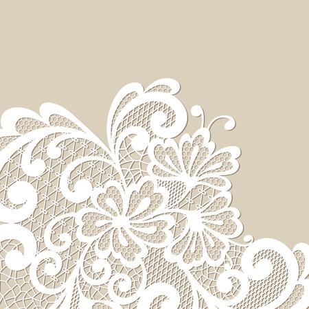 Black vector lace corner Иллюстрация
