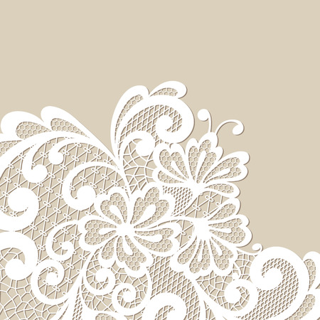 Black vector lace corner Illustration