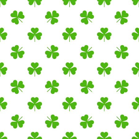 Seamless Saint Patricks day clover background. Vector