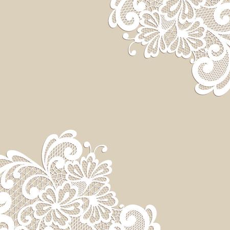 Blanca esquina flor, adorno de encaje Foto de archivo - 38914126
