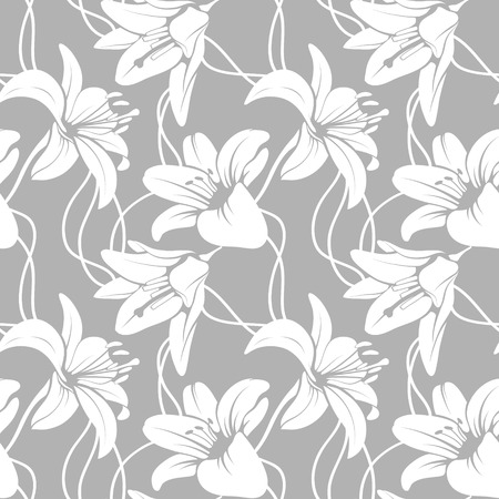 lilly: Vector lilly seamless pattern