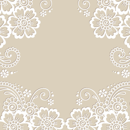 ornament frame: Flower vector ornament frame