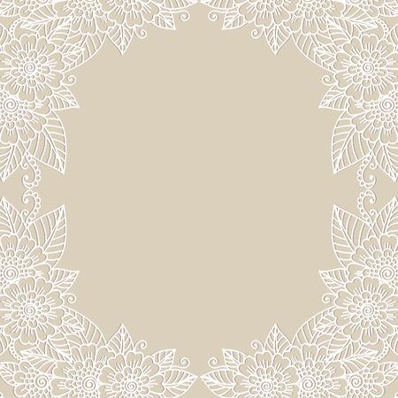 Flower ornament frame