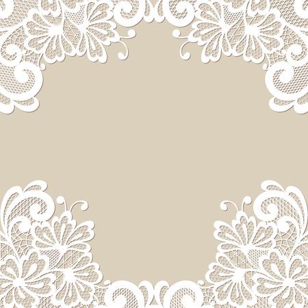 retro lace: Flower vector ornament frame