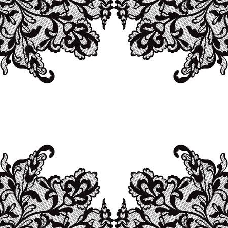 ornament frame: Flower vector ornament frame. Illustration