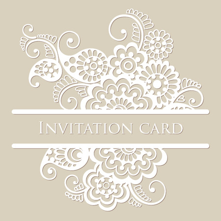 lace vector: Vector lace card.