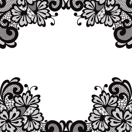Flower vector ornament frame. Illustration