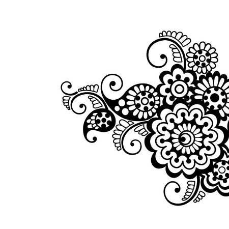 Flower vector ornament background Vector
