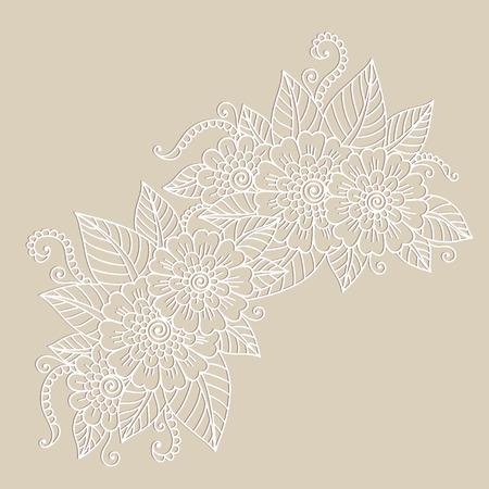 Flower ornament. Иллюстрация