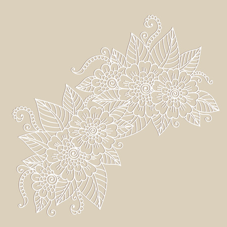 henna: Flower ornament. Illustration