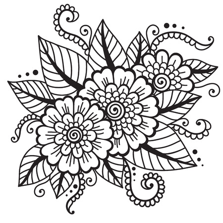 mendie: Oriental flower ornament Illustration